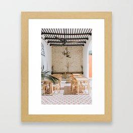 Wanderlust Interiors with Pink Tiles Framed Art Print