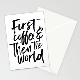BUT FIRST COFFEE, Kitchen Wall Art,Coffee Sign,Inspirational Quote,Coffee Kitchen Decor,Morning Quot Stationery Cards
