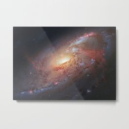 Spiral Galaxy M 106 Metal Print