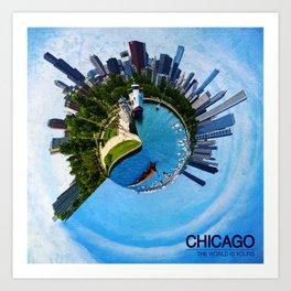 Planet Chicago Art Print