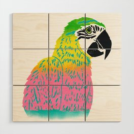 Electrifying Parrot Wood Wall Art