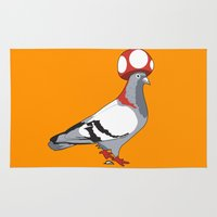 pigeon Area & Throw Rugs featuring Pigeon Toad. by Brunky