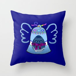 Bell, Egg, Wing Throw Pillow