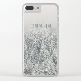 Miracles in December - Korean 12월의 기적 (EXO inspired) Clear iPhone Case
