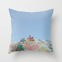 Salvation Mountain IV / Slab City, California Throw Pillow