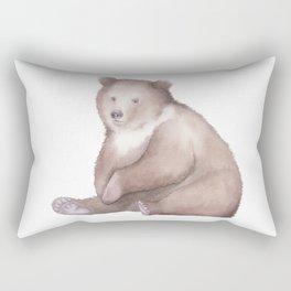 Bear Watercolor Rectangular Pillow