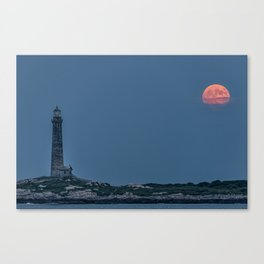 Full Buck Moon at the north tower Canvas Print