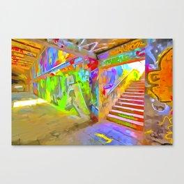 London Graffiti Pop Art Canvas Print