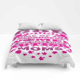 Autism Mom Autistic Awareness Day Asperger Gift Comforters