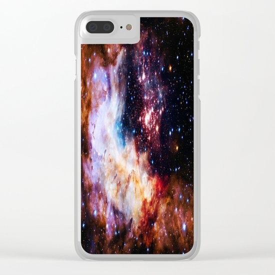 gALaxy : Celestial Fireworks Clear iPhone Case