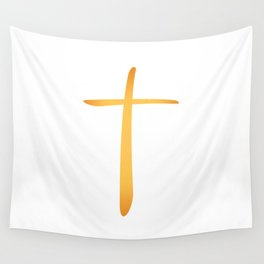 Latin Christian Cross Wall Tapestry