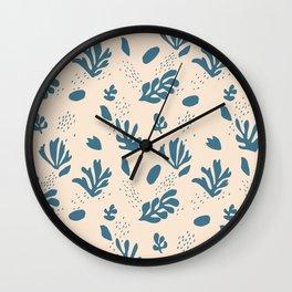 Modern pattern-Matisse-Petals. Wall Clock