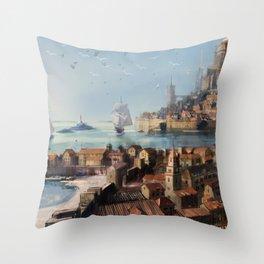 Antillia Throw Pillow