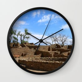 Aztec Ruins New Mexico Wall Clock