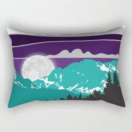Moonrise Landscape   DopeyArt Rectangular Pillow