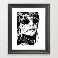 The Glasses. Framed Art Print