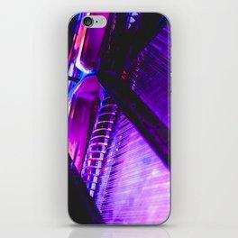 Neon Piano iPhone Skin