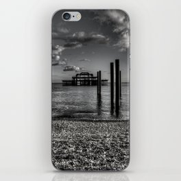 West pier in black and white iPhone Skin
