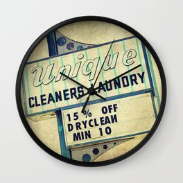 Unique Laundry Sign Wall Clock