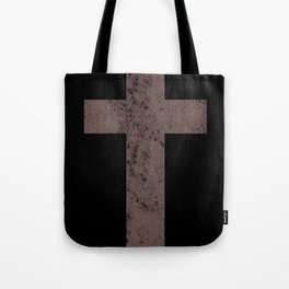 Cross (distressed retro brown)  Tote Bag