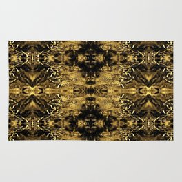 Beautiful Gold Brown  Traditional Pattern Rug