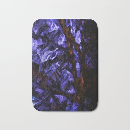Brown Branches with some Lavender Bath Mat