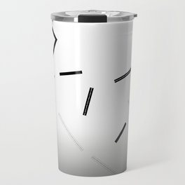 Breakaway Black and White Gradation Travel Mug