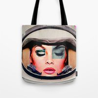 space jam Tote Bags featuring Space Jam by Katy Hirschfeld