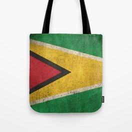 Old and Worn Distressed Vintage Flag of Guyana Tote Bag