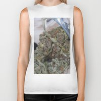 medical Biker Tanks featuring Silver Afghan Medical Marijuana by BudProducts.us