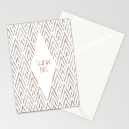 Graphic Art THINK BIG   rose gold & marble Stationery Cards