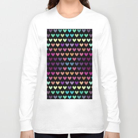 Colorful hearts IV Long Sleeve T-shirt