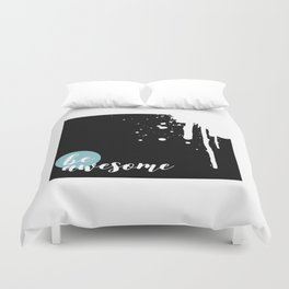 TEXT ART Be awesome | Splashes Duvet Cover