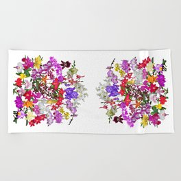 A celebration of orchids Beach Towel