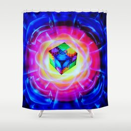 Abstract in perfection Shower Curtain