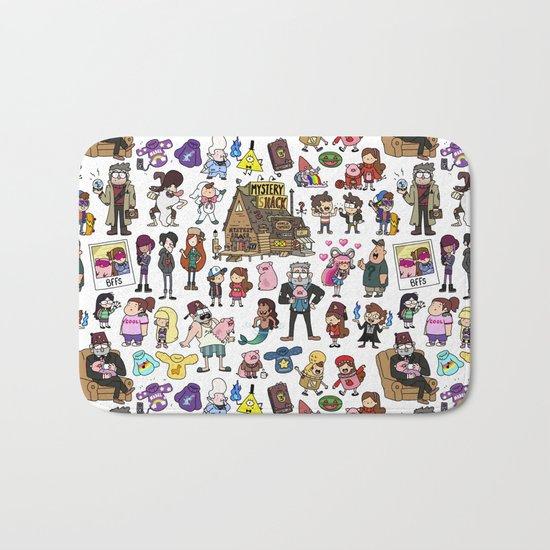 Cute Gravity Falls Doodle  Bath Mat