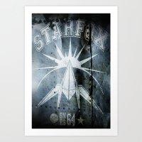 starfox Art Prints featuring STARFOX! by John Medbury (LAZY J Studios)