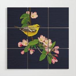 Blue-Winged Warbler Bird Art Wood Wall Art