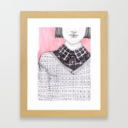 Plaid Party Framed Art Print