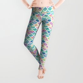 RAINBOW MERMACITA Colorful Mermaid Scales Leggings