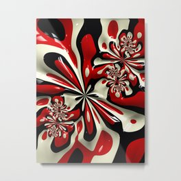 Red Moschino Splotch Metal Print