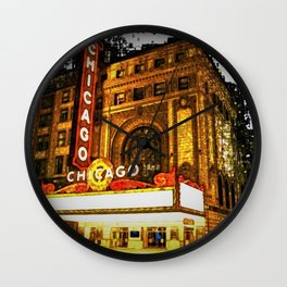 Chicago Theater Portrait No. 2 Wall Clock
