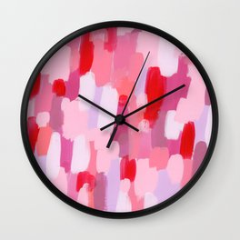 Abstract Painting Pin Pattern Acrylic - Meet Me In The Red Woods Wall Clock