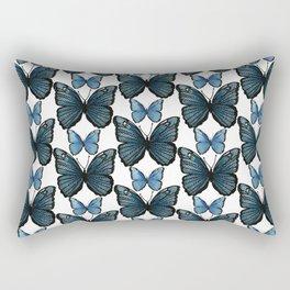 Blue Butterflies Rectangular Pillow