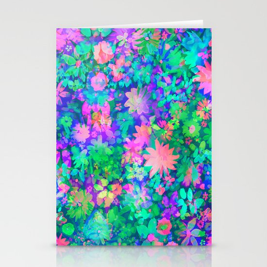 Fluro Floral Stationery Cards