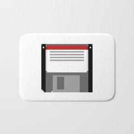 Pixel art floppy disk Bath Mat