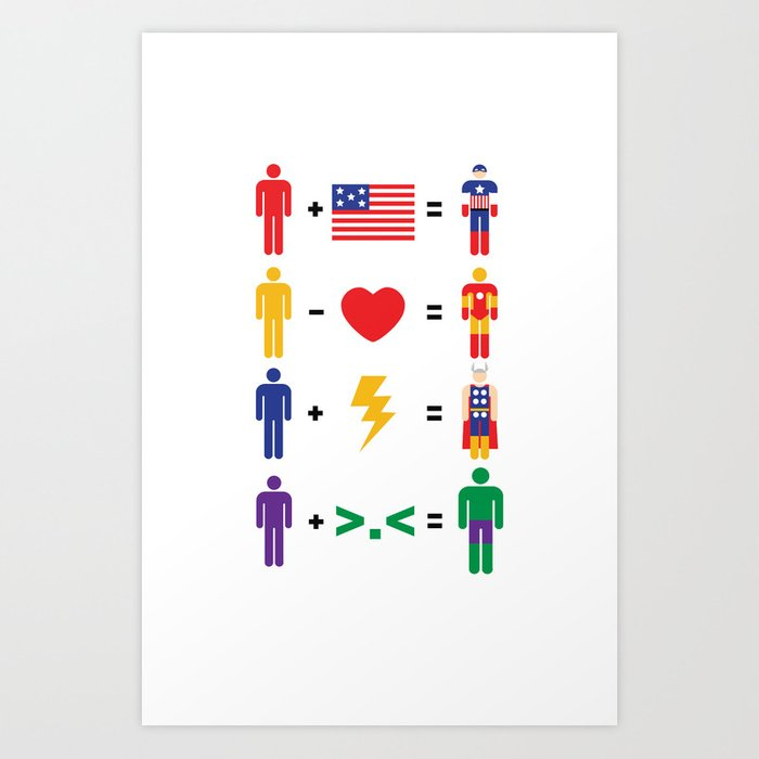 Assemble Math Art Print by mattcantdraw | Society6