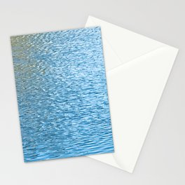 Lake Reflections With Splashes of Shaded Sunlight Abstract Stationery Cards