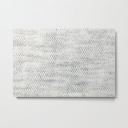 Gray Wool Metal Print