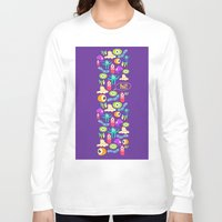 monsters Long Sleeve T-shirts featuring monsters by Ceren Aksu Dikenci